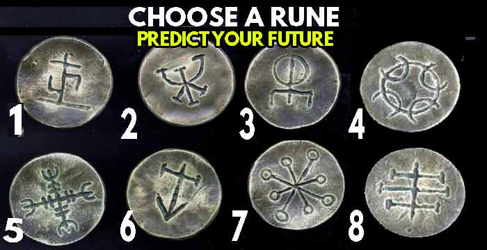 ✅ Choose 2 MAGIC RUNES and it will reveal the future